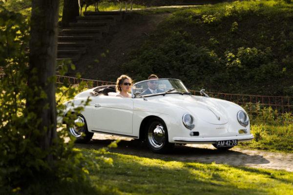 trouwauto type Porsche Wedding Eve