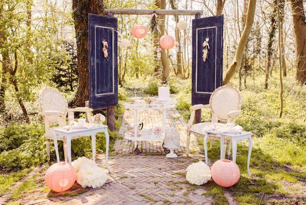 blush blossom wedding styling Wedding Eve