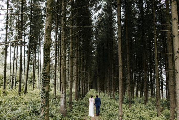 trouwwen in het bos