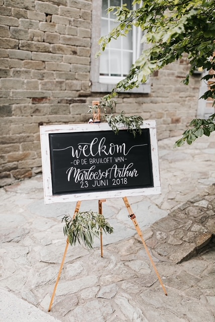 welkomstbord Wedding Eve