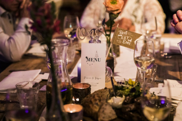 rustieke tafel styling Wedding Eve
