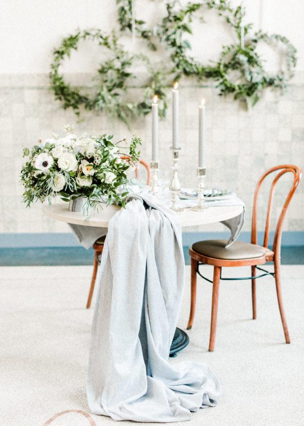 diner styling grijstinten Wedding Eve