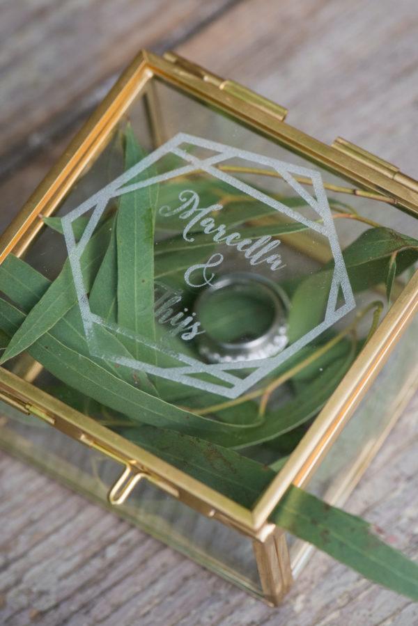 ringendoosje goud hexagonale