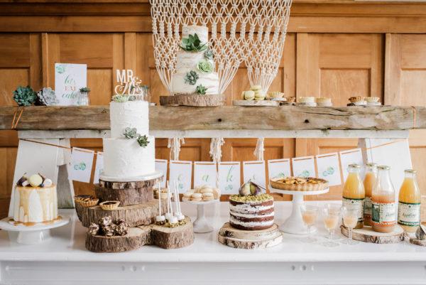 rustieke sweet table bij Olmenhorst Wedding Eve